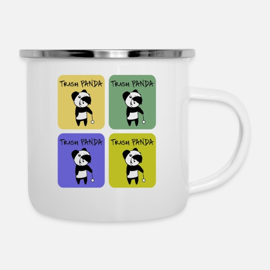 Emoticon Tassen & Becher - Trash PANDA - T-Shirt Emo Style Tees Color - Emaille-Tasse Weiß