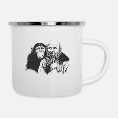 Darwin Anti-Religione Ateo Darwin Evolution - Tazza smaltata
