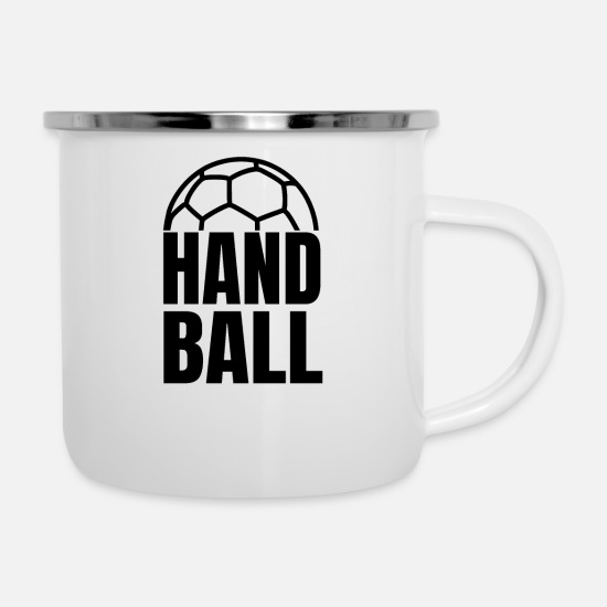 Gift Idea Mugs & Drinkware - Handball Handballer Handball Player Gift - Enamel Mug white
