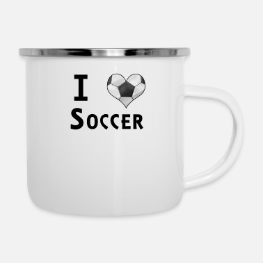 Reloj I Love Soccer Football Heart Ball Fan Design - Taza esmaltada
