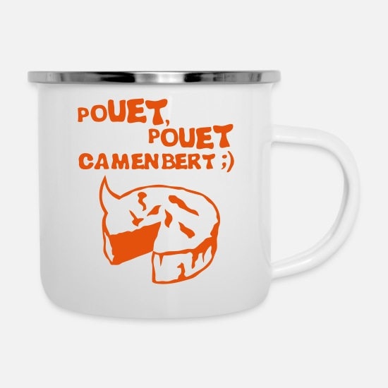 Expression Mugs & Drinkware - squeaker camembert cheese phrase - Enamel Mug white