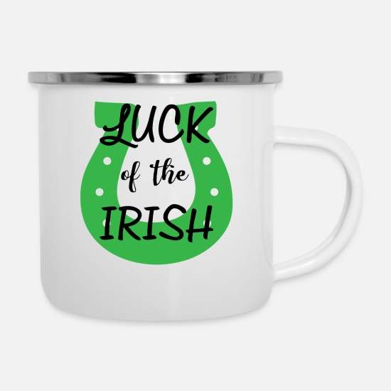 Gift Idea Mugs & Drinkware - Luck of Ireland - Enamel Mug white