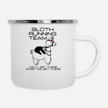 Joggen Llama Sloth Running Team - We´ll get there Shirt - Emaille-Tasse