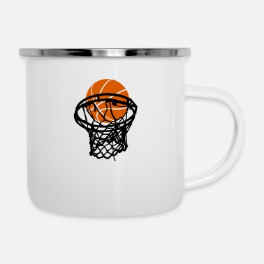 Korbleger Basketball Korbleger - Emaille-Tasse