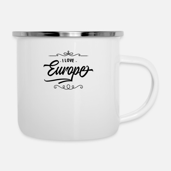 Eu Mugs & Drinkware - Europe Europe European Union European Union - Enamel Mug white