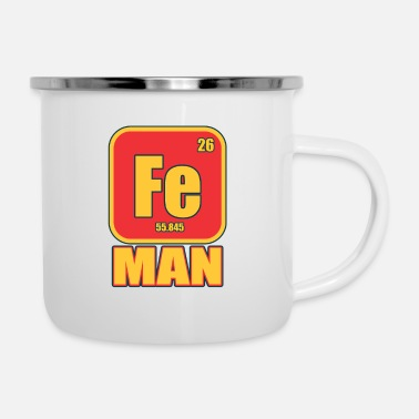 Iron Metal Iron Man Funny Costume Metal Element Gift - Enamel Mug