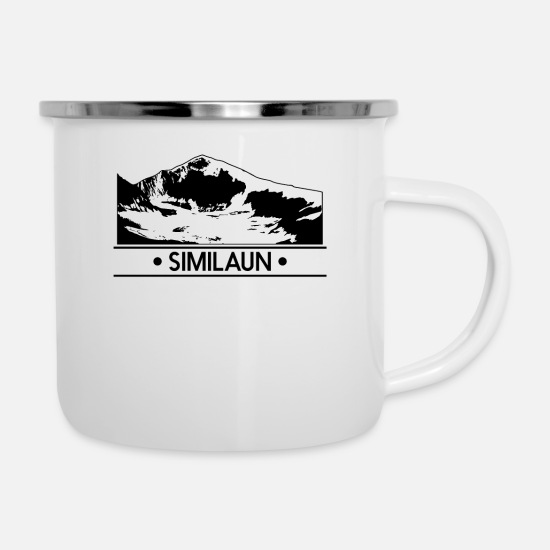 Tyrol Mugs & Drinkware - Similaun - Enamel Mug white