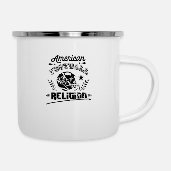 American Football Mugs & Drinkware - quarterback - Enamel Mug white