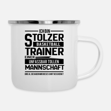 Basketball coach - Enamel Mug