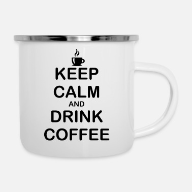 Pause Keep Calm Coffee Drinking Breakfast Gift Idea - Enamel Mug