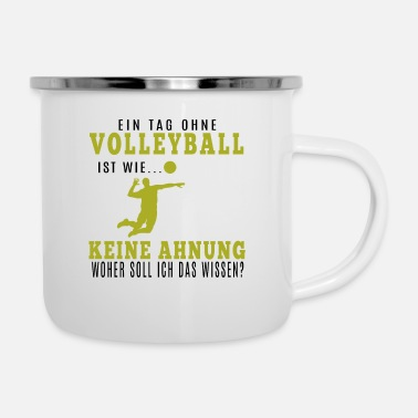 Volley Volleyballer Shirt · Volley Club · Volley Gift - Enamel Mug