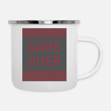 Game Over Game over - Emaille-Tasse