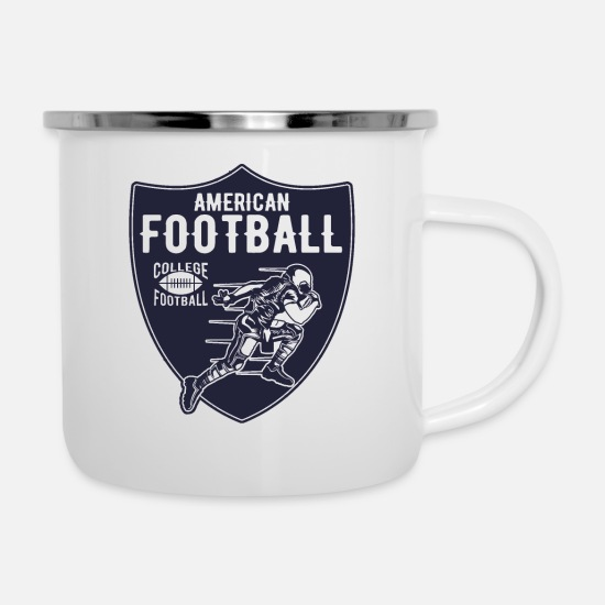 American Football Mugs & Drinkware - American football - Enamel Mug white