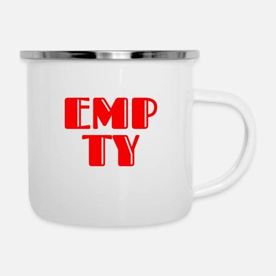 Birthday Mugs & Drinkware - Empty blank red cool saying t-shirt design - Enamel Mug white