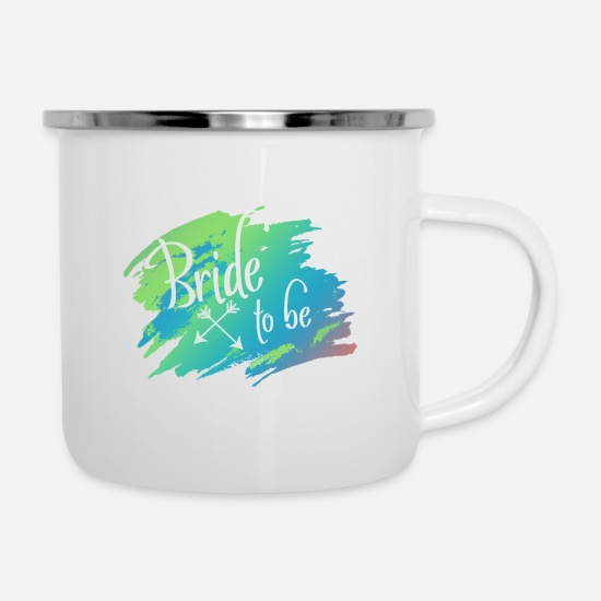 Bride Mugs & Drinkware - Bride to be - the fiance, the future bride! - Enamel Mug white