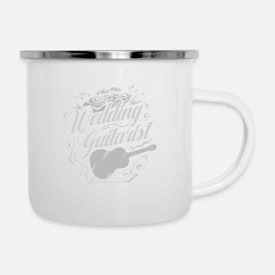 Love Mugs & Drinkware - Wedding guitarist - Enamel Mug white