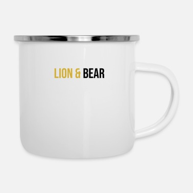 Lion & Bear - Emaille mok