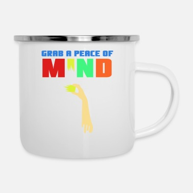 Strange Spread the Love with this Peace of mind Tshirt - Enamel Mug