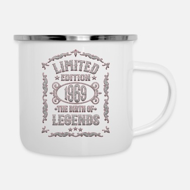 Born In Born 1969 - Funny 50th Birthday T-Shirt - Enamel Mug