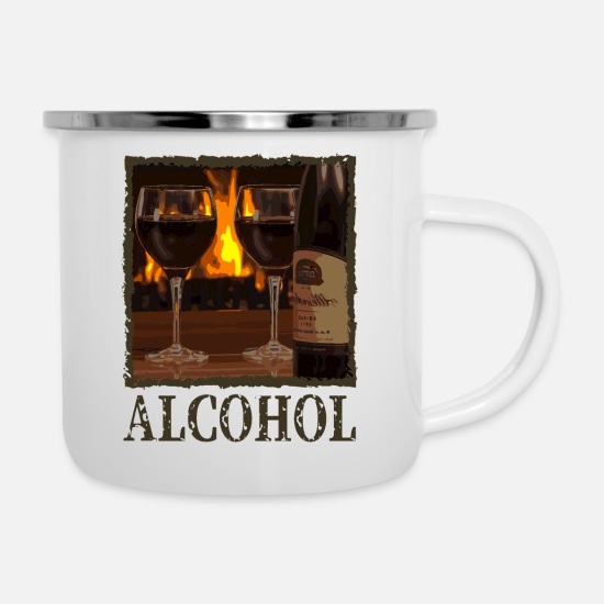 Liqueur Mugs & Drinkware - Alcohol - Enamel Mug white