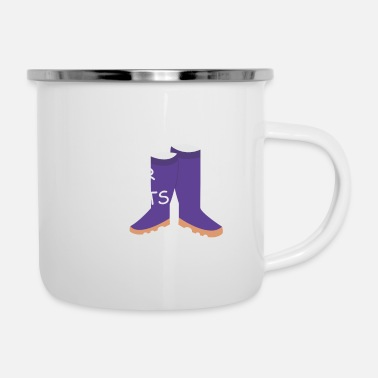 Country Life Cowboy Country Life is better in Boots Geschenk - Emaille-Tasse