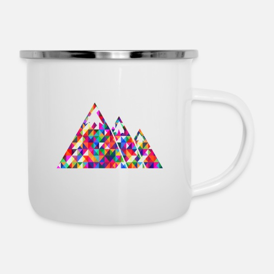 Mountains Mugs & Drinkware - mountains - Enamel Mug white
