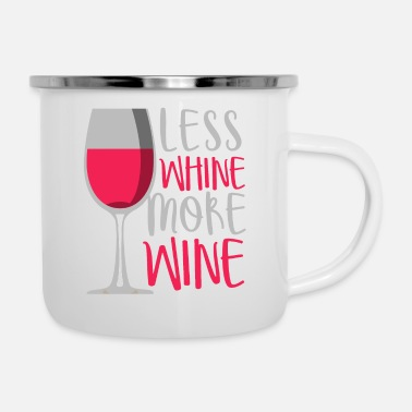 Wine Less crying - more wine - Enamel Mug