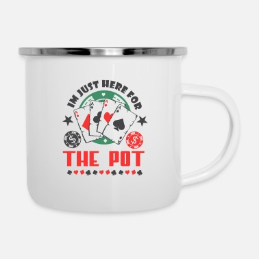 Las Vegas Poker Pott money bluffer player card gift - Enamel Mug