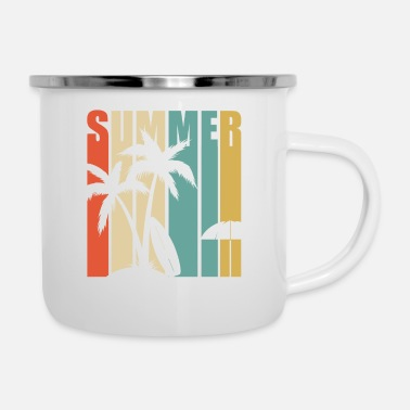 Spain Summer vacation holidays beach gift sun sea - Enamel Mug