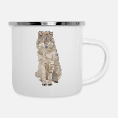 Animal Polygon Wolf Wolves Animaux Sauvages - Mug émaillé