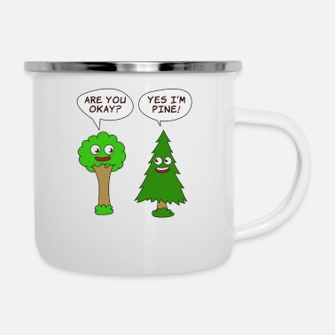 Enviromental Beautiful Nature Tree Tshirt Design Are You Okay? - Enamel Mug