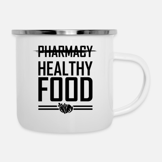 Nutrition Mugs & Drinkware - nutrition - Enamel Mug white