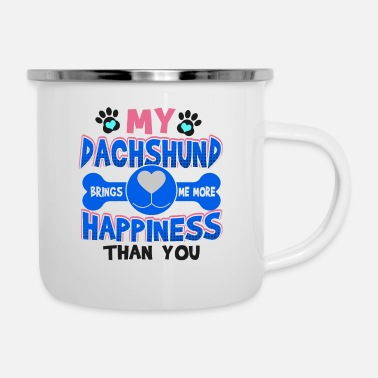 Rescue Dachshund Dog Lover My Dachshund Brings Me More - Enamel Mug