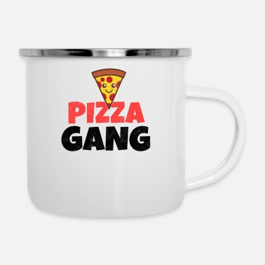Rap Pizza course fast food food gift idea - Enamel Mug