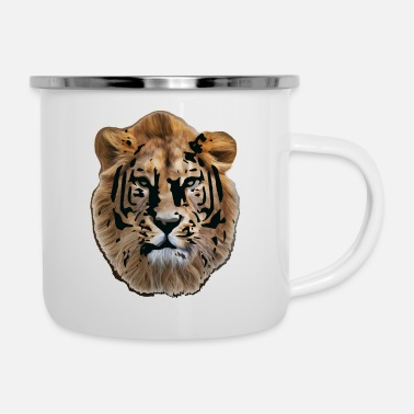 Cinema Lion Head The Lion Shirt - Enamel Mug