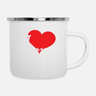Us Funny Description Immature Tshirt Design I love - Enamel Mug