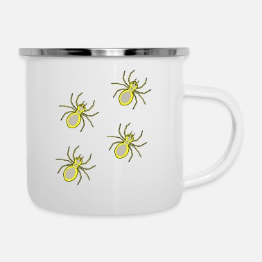 Monster Halloween spiders horror phobia arachnids - Enamel Mug