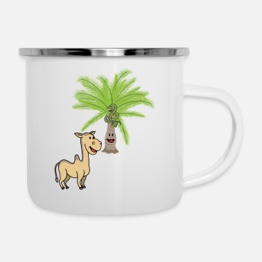 Toddler Camel Camels Palm Palm Trees Wilderness Wildlife - Enamel Mug