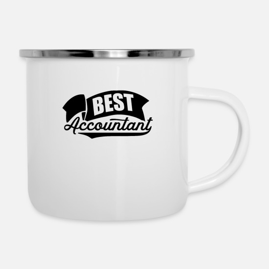 Gift Idea Mugs & Drinkware - Occupation accountant accounting tax accountant - Enamel Mug white