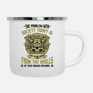 Viking Viking skull statment sayings gift idea - Enamel Mug