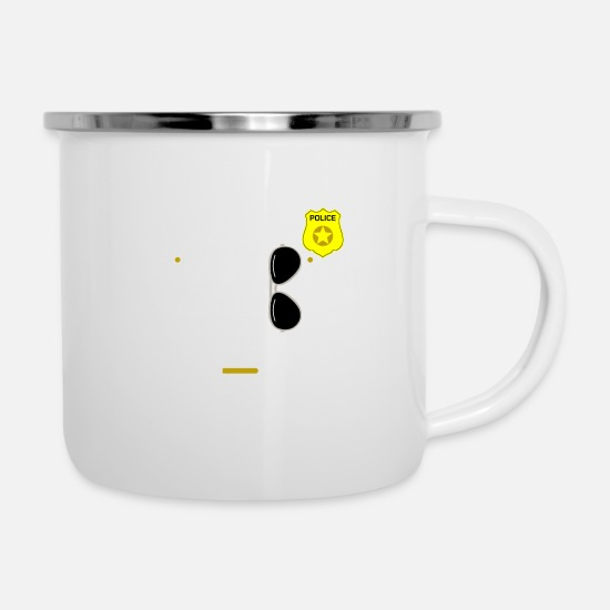 Uniform Mugs & Drinkware - Police Uniform Policeman Costume Funny Gift - Enamel Mug white