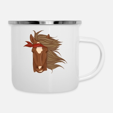 Ilustration Illustration de cheval - Mug émaillé