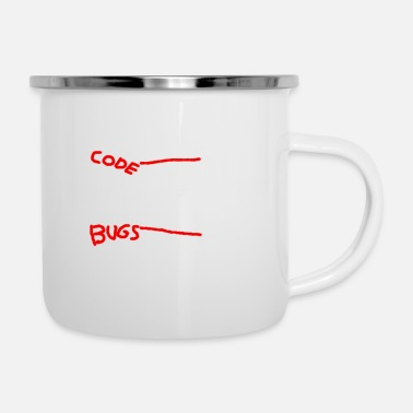 Code While there is Code there is Bugs - Emaille-Tasse