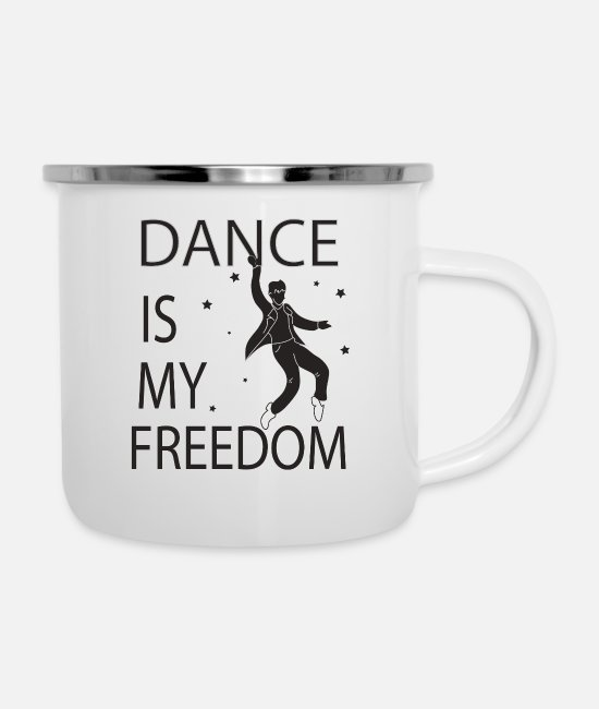 Dance Floor Mugs & Drinkware - dancer - Enamel Mug white