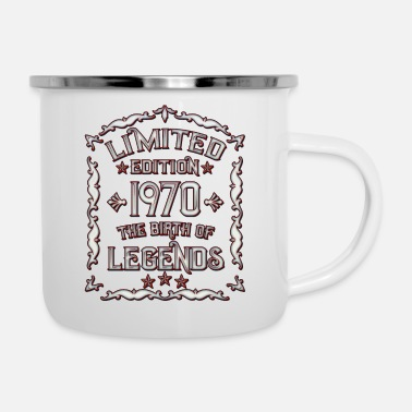 50th Birthday Mens Born In 1970 Born 1970 - 50th birthday - 1970 Born - Enamel Mug
