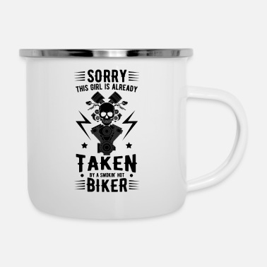 Quote Motorcyclist cool quote - Enamel Mug