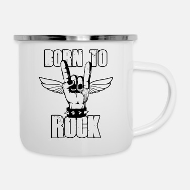 Bass Born to Rock - Emaille-Tasse