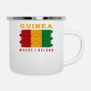 Patriot Guinea Where I Belong Cool Statement Geschenkidee - Emaille-Tasse
