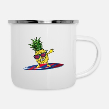 Voile Surfers Surfboard Surfing Dabbing Ananas - Mug émaillé