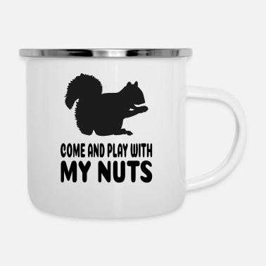 Nüsse Come and play with my nuts - Eichhörnchen - Emaille-Tasse